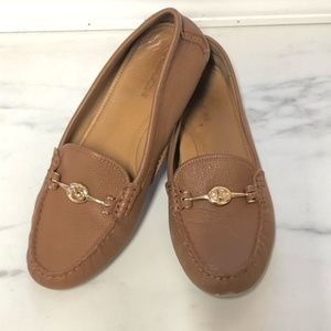 Coach Arlene Turnlock Driving Leather Loafers 10B